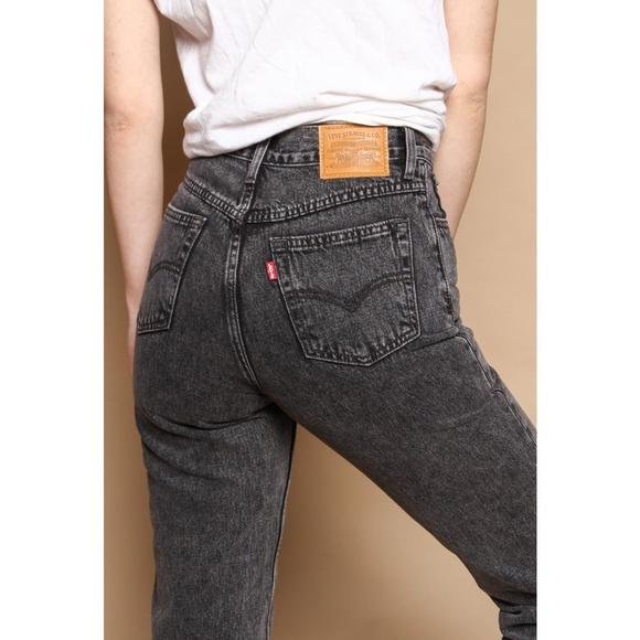 29655f11 Levi's Jeans   Levis Mom Black Acid Wash Brenda   Poshmark